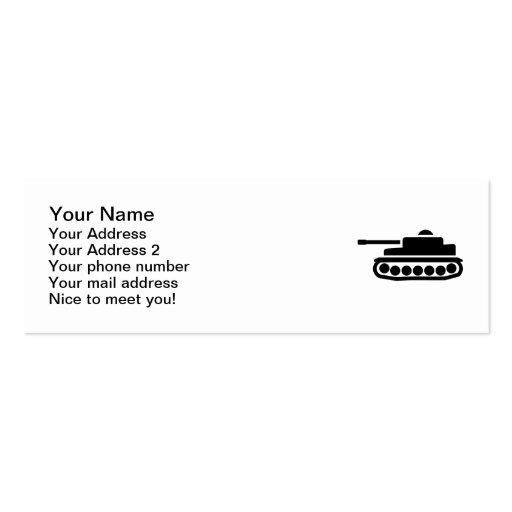 El tanque militar tarjetas de visita