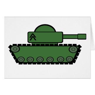 El tanque militar tarjeta de felicitación