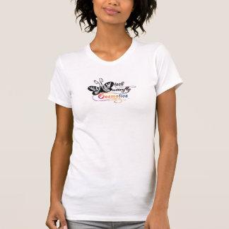El tanque negro de los cosméticos de la mariposa camiseta