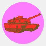 El tanque pegatina redonda