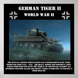 El tanque pesado del tigre II alemán - impresión d Póster
