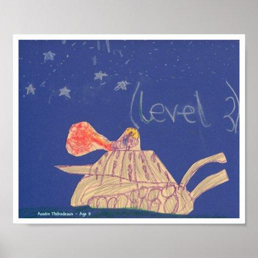 """El """"tanque"""" por un Thibodeaux, edad 8 Poster"""