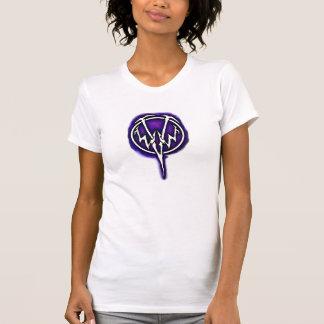 El tanque púrpura del logotipo de WWV T-shirts