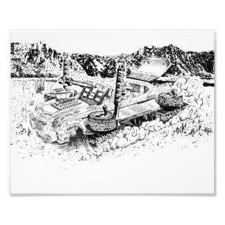 El tanque retro del juguete GTO/Armoured Fotografía