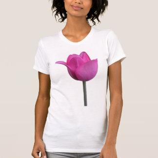 El tanque rosado del tulipán camisetas