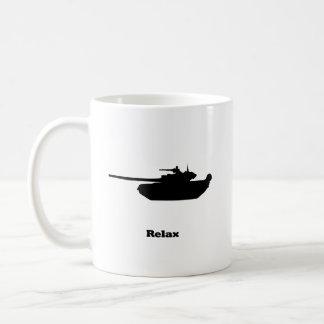 El tanque se relaja taza básica blanca