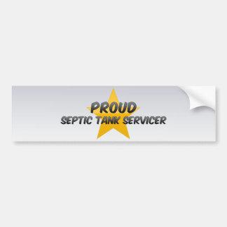 El tanque séptico orgulloso Servicer Etiqueta De Parachoque