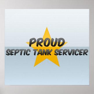 El tanque séptico orgulloso Servicer Impresiones