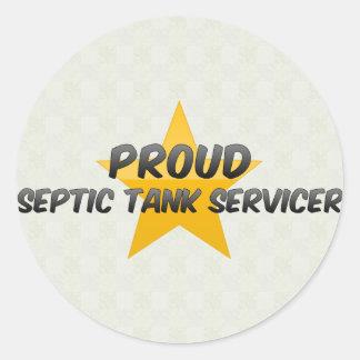 El tanque séptico orgulloso Servicer Pegatina Redonda