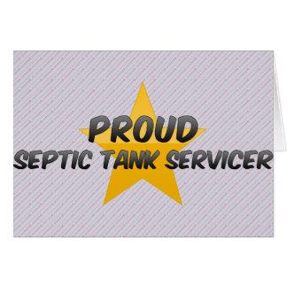 El tanque séptico orgulloso Servicer Tarjetón
