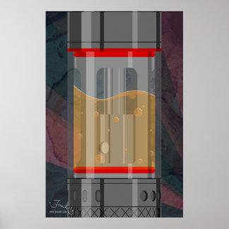 El tanque sub minimalista póster