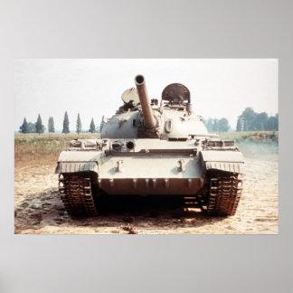 El tanque T-54 Póster