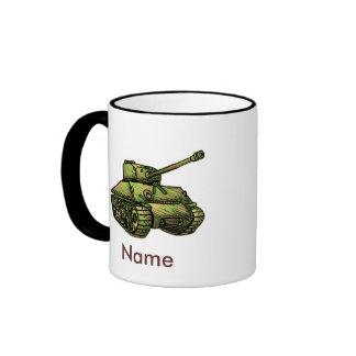 El tanque taza a dos colores