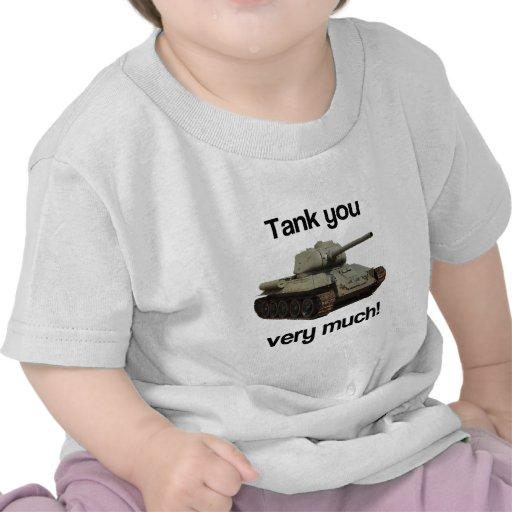 El tanque usted mucho camiseta