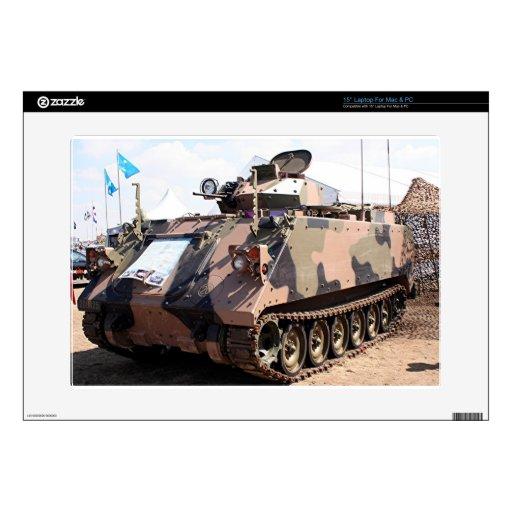 El tanque: vehículo militar acorazado 38,1cm portátil calcomanía