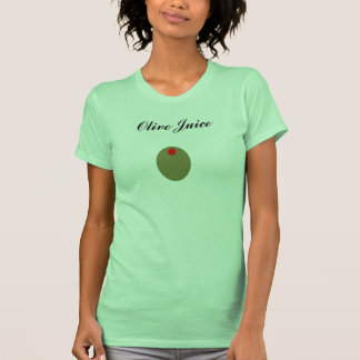 El tanque verde oliva del jugo para mujer playeras