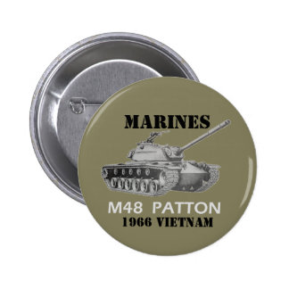 El tanque Vietnam de Patton Pin Redondo De 2 Pulgadas
