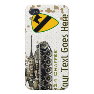 El tanque WW2 de M24 Chaffee iPhone 4 Cárcasa