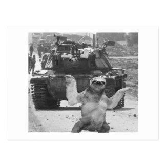 el tanque y pereza tarjetas postales