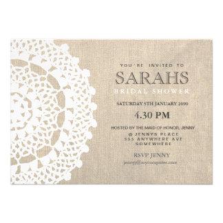 El tapetito del cordón y el fiesta de ducha nupcia invitación personalizada