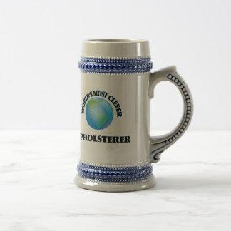 El tapicero más listo del mundo jarra de cerveza