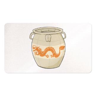 El tarro chino oriental antiguo de encargo del plantilla de tarjeta de visita