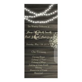 El tarro de albañil enciende programa del boda lonas personalizadas