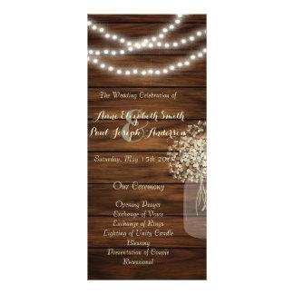 El tarro de albañil enciende programa del boda lonas