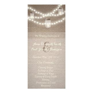El tarro de albañil enciende programa del boda tarjetas publicitarias
