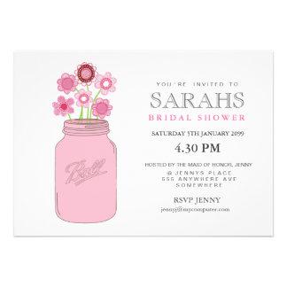 El tarro de albañil florece el fiesta de ducha nup anuncios personalizados