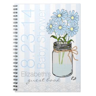 El tarro de albañil florece el libro de huésped libros de apuntes