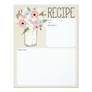 El tarro de albañil florece la tarjeta de la invitacion personal