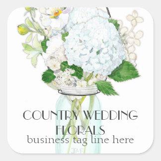 El tarro de albañil rústico del país florece los H Colcomania Cuadrada