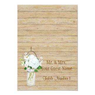 El tarro de albañil rústico del país florece los invitación 8,9 x 12,7 cm