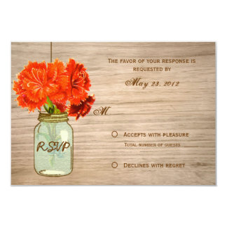 El tarro de albañil rústico del país florece RSVP Invitación 8,9 X 12,7 Cm