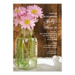 El tarro de albañil y el fiesta rosado del dulce invitaciones personales