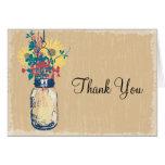 El tarro de albañil y los Wildflowers le agradecen Tarjetón