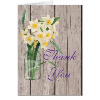 El tarro de albañiles del vintage le agradece tarjeta de felicitación