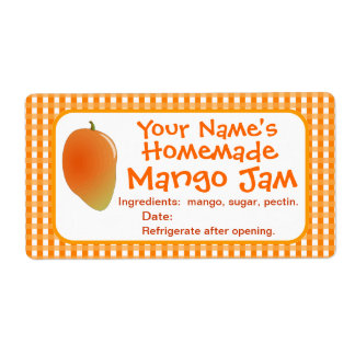 El tarro de enlatado personalizado del atasco del  etiqueta de envío