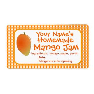 El tarro de enlatado personalizado del atasco del etiquetas de envío
