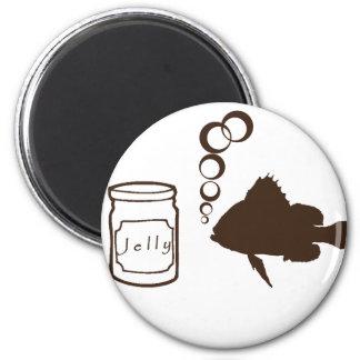 el tarro de jalea y de pescados hace pescados de j imán redondo 5 cm