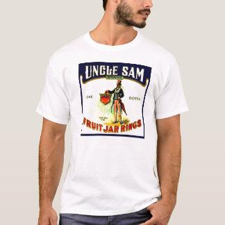 El tarro de la fruta del tío Sam del vintage suena Playera