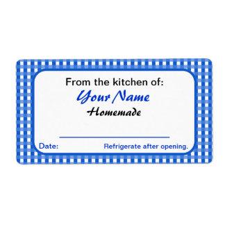 El tarro personalizado etiqueta nombre azul del etiquetas de envío