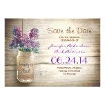 el tarro y las lilas de albañil ahorran la fecha invitacion personal