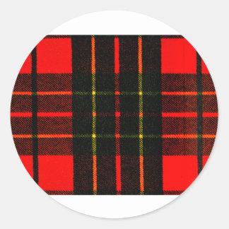 el tartán del jGibney colorea Brodie el GIF de Etiquetas Redondas