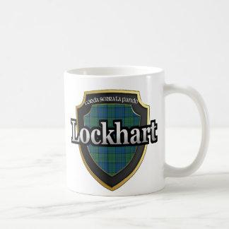 El tartán escocés de la dinastía de Lockhart del Tazas De Café