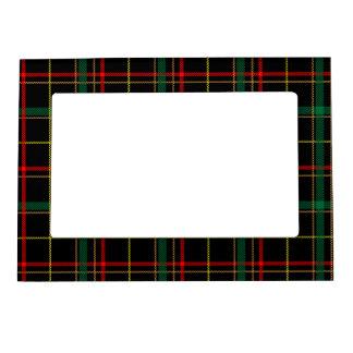 El tartán, tela escocesa comprueba el modelo verde marcos magnéticos para fotos