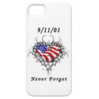 El tatuaje 911 nunca olvida iPhone 5 carcasas