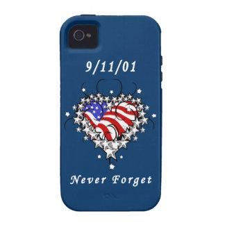 El tatuaje 911 nunca olvida Case-Mate iPhone 4 carcasa