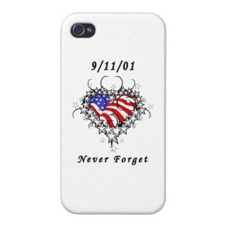 El tatuaje 911 nunca olvida iPhone 4 carcasa